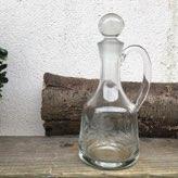 oude glazen fruitschaal op voet murano